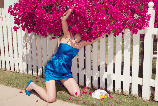 "When she was starting out in Paris, Roy became influenced by Guy Bourdin, whose fashion photography contained strange, often haunting narratives. She liked the idea of ""making little stories"" in a single frame. (Photo by Kourtney Roy/Galerie Catherine et André Hug/The Guardian)"