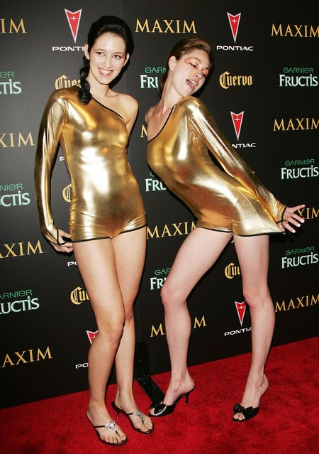 Maxim party models attend Maxim Magazine's 7th Annual Hot 100 party at Buddha Bar May 17, 2006 in New York City. (Photo by Evan Agostini)