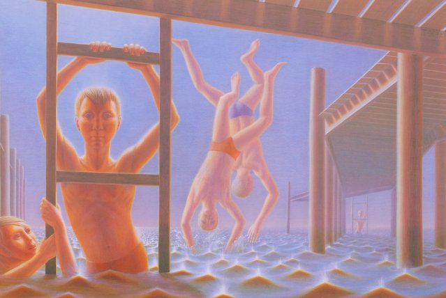Divers. Artwork by George Tooker