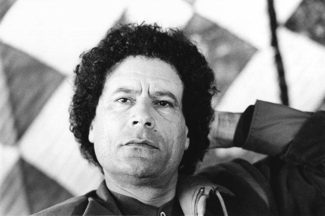 Libyan leader Muammar al-Gaddafi (1942–2011), February 1985. (Photo by Reg Lancaster/Daily Express)