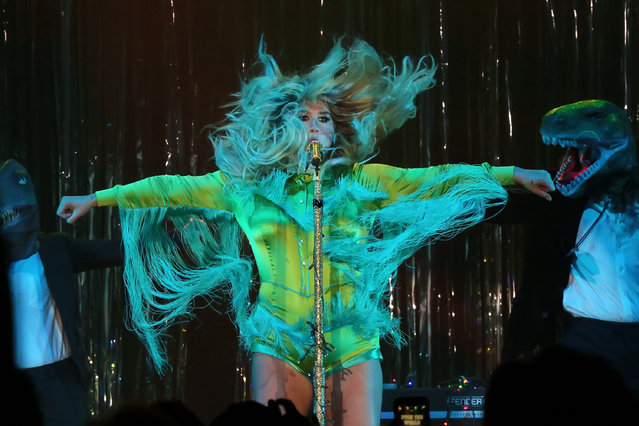 Kesha is the first entertainer to perform in concert at Harrah's Waterfront on August 6, 2016 in Atlantic City, New Jersey. (Photo by Donald Kravitz/Getty Images)
