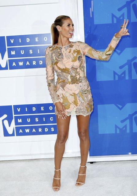 Model Heidi Klum arrives at the 2016 MTV Video Music Awards in New York, U.S., August 28, 2016. (Photo by Eduardo Munoz/Reuters)