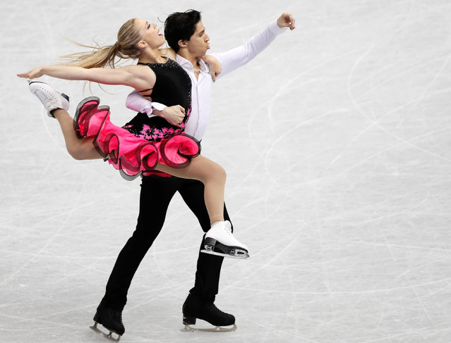 Marjorie Lajoie and Zachary Lagha of Canada compete in the Junior ice dance short dance during the ISU Junior & Senior Grand Prix of Figure Skating Final at Nippon Gaishi Hall on December 8, 2017 in Nagoya, Japan. (Photo by Issei Kato/Reuters)