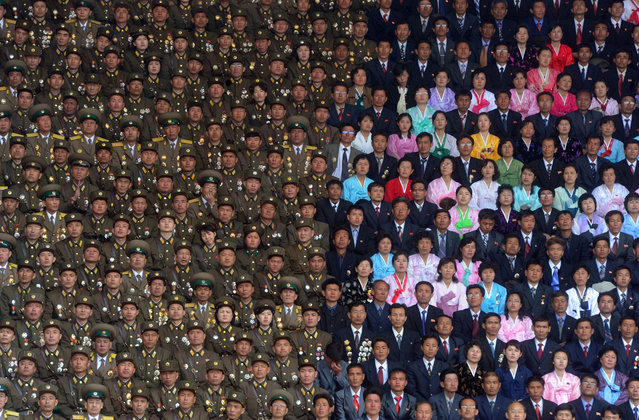 """""""Photo taken during the celebration of the 100th anniversary of the birth of North Korea founder Kim Il Sung in Pyongyang, on in April 2012"""". (Photo and comment by Ilya Pitalev, Russia/2013 Sony World Photography Awards"""