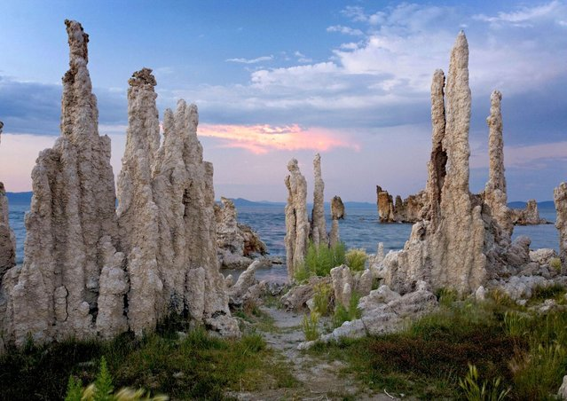 Tufa pinnacles at Mono Lake in Sierra Nevada – Mono Lake is a closed hydrological basin meaning water flows into it but it doesnt flow out. The only way for water to leave is through evaporation. Four vertical feet of water can evaporate during the course of a year. (Photo by Bob Gibbons/Ardea/Caters News)