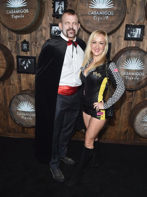 Fighter Chuck Liddell and Heidi Northcott arrive to the Casamigos Halloween Party at a private residence on October 28, 2016 in Beverly Hills, California. (Photo by Alberto E. Rodriguez/Getty Images for Casamigos Tequila)