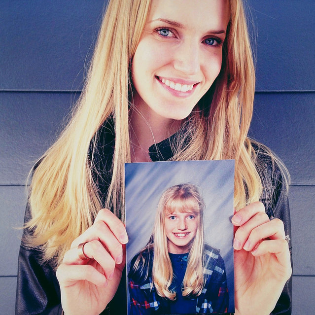 Martie. Then: 12 years old, 6th Grade, Taylorsville, UT. Now: 28 years old, International Model, as well as a Policy & Procedure Analyst at Discover Financial Services, residing in South Jordan, UT. (Photo by Awkward Years Project)