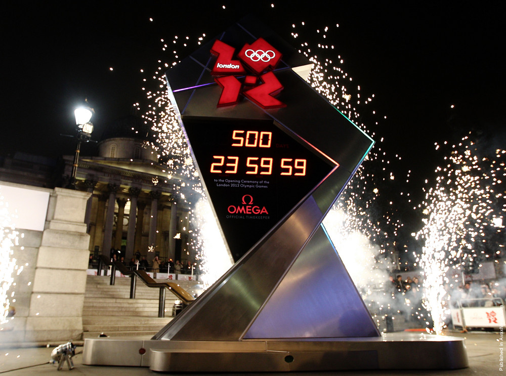 The London 2012 Countdown Clock Is Launched
