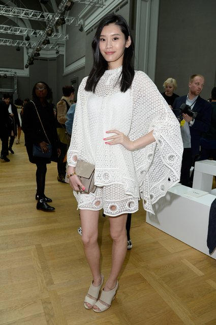 PARIS, FRANCE - MARCH 08:  Model Ming Xi attends the Chloe show as part of the Paris Fashion Week Womenswear Fall/Winter 2015/2016 on March 8, 2015 in Paris, France.  (Photo by Pascal Le Segretain/Getty Images)