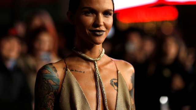 "Cast member Ruby Rose poses at the premiere of ""xXx: Return of Xander Cage"" in Hollywood, Los Angeles, California U.S., January 19, 2017. (Photo by Mario Anzuoni/Reuters)"