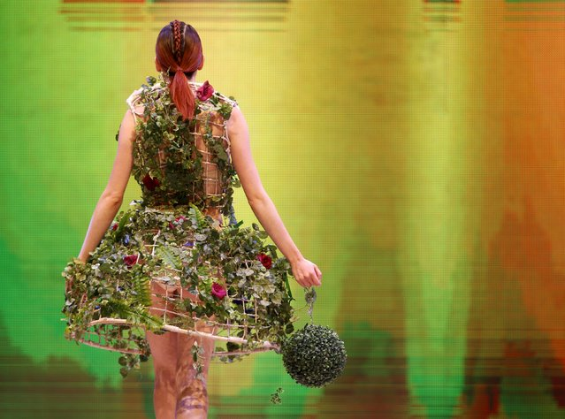 A model presents a creation by designer Sai Suman of India at the Malta Fashion Awards 2015 at the Marsa Shipbuilding warehouse in Marsa, outside Valletta in Malta, May 16, 2015. (Photo by Darrin Zammit Lupi/Reuters)