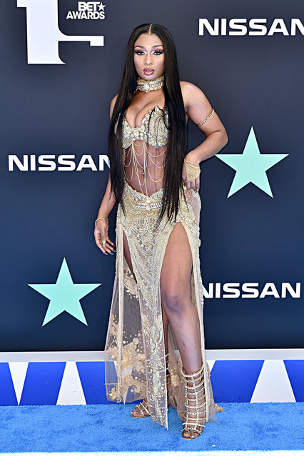Megan Thee Stallion attends the 2019 BET Awards on June 23, 2019 in Los Angeles, California. (Photo by Aaron J. Thornton/Getty Images for BET)