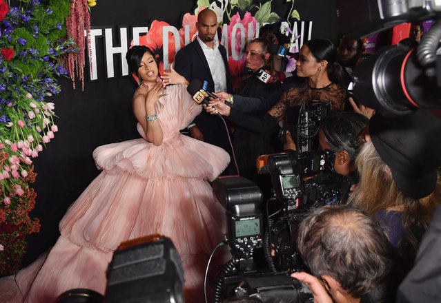US rapper Cardi B  arrives for Rihanna's 5th Annual Diamond Ball Benefitting The Clara Lionel Foundation at Cipriani Wall Street on September 12, 2019 in New York City. (Photo by Angela Weiss/AFP Photo)