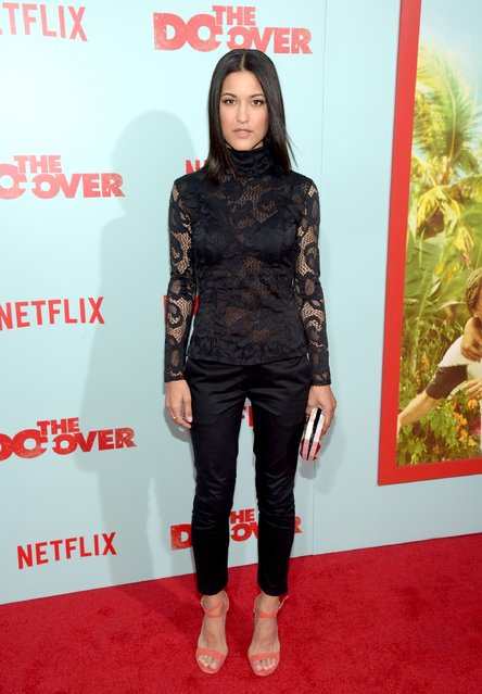 "Actress Julia Jones attends the premiere of Netflix's ""The Do Over"" at Regal LA Live Stadium 14 on May 16, 2016 in Los Angeles, California. (Photo by Jason Kempin/Getty Images)"