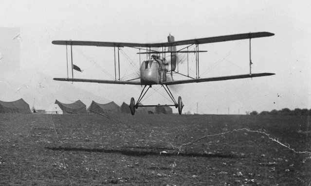 A British Commander starting off on a raid, flying an Airco DH.2 biplane. (Photo by Nationaal Archief via The Atlantic)