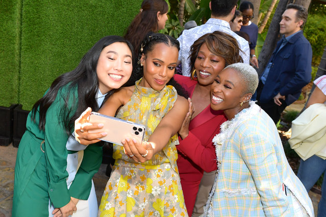 """(L-R) Awkwafina, Kerry Washington, Alfre Woodard and Cynthia Erivo attend the """"Indie Contenders Roundtable"""" presented by The Hollywood Reporter at AFI FEST 2019 presented by Audi at TCL at Hollywood Roosevelt Hotel on November 17, 2019 in Hollywood, California. (Photo by Matt Winkelmeyer/Getty Images for AFI)"""