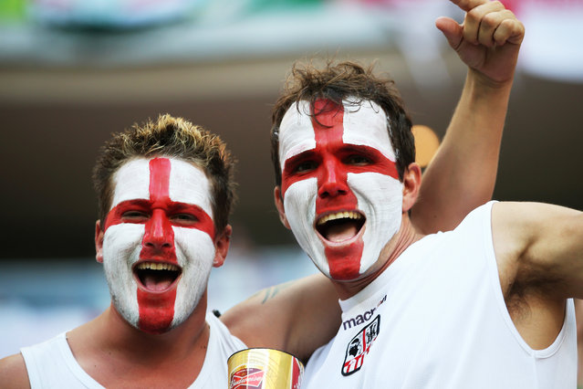 England fans enjoy the atmosphere prior to the 2014 FIFA World Cup Brazil Group D match between England and Italy at Arena Amazonia on June 14, 2014 in Manaus, Brazil. (Photo by Richard Heathcote/Getty Images)