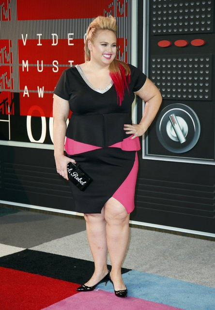 Actress Rebel Wilson arrives at the 2015 MTV Video Music Awards in Los Angeles, California, August 30, 2015. (Photo by Danny Moloshok/Reuters)
