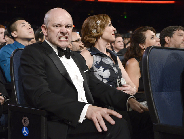 Rob Corddry poses in the audience at the Television Academy's Creative Arts Emmy Awards at Microsoft Theater on Saturday, September 12, 2015, in Los Angeles. (Photo by Dan Steinberg/Invision for the Television Academy/AP Images)