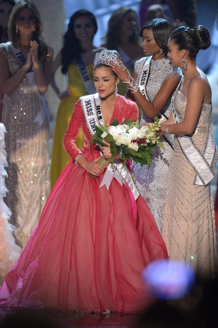 Miss USA, Olivia Culpo is crowned Miss Universe 2012 during the Miss Universe Pageant at Planet Hollywood in Las Vegas, Nevada on December 19, 2012. Eighty-nine countries and territories took part in in this year's pageant. (Photo by Joe Klamar/AFP Photo)