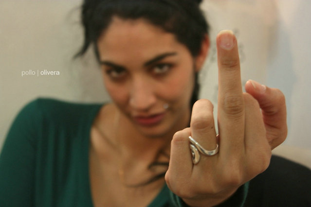 """The Finger"". (Photo by Ernesto Olivera)"