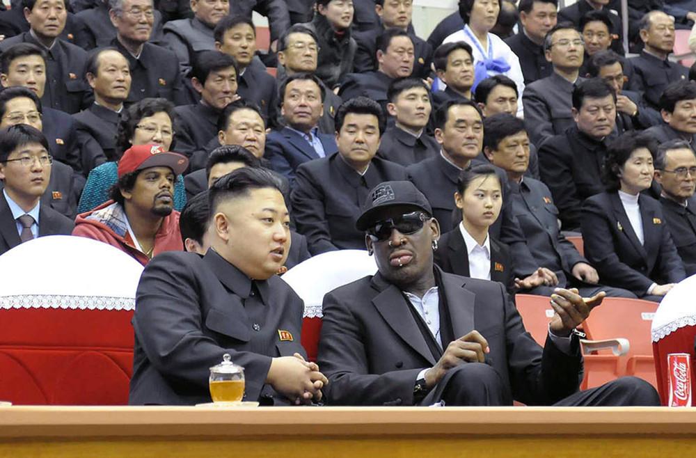 Dennis Rodman and Kim Jong-Un