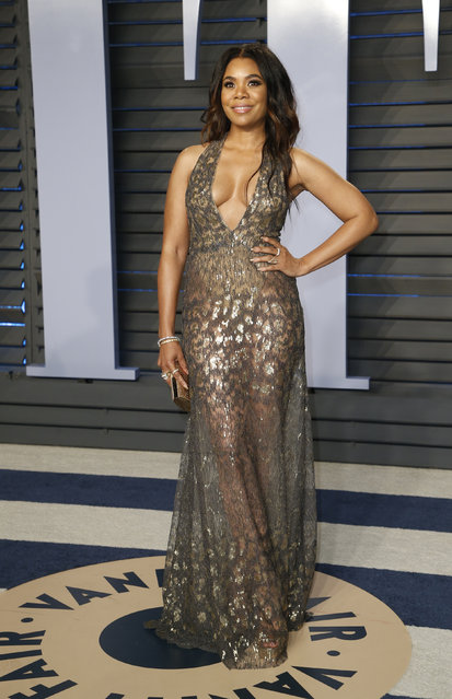 Regina Hall attends the 2018 Vanity Fair Oscar Party hosted by Radhika Jones at the Wallis Annenberg Center for the Performing Arts on March 4, 2018 in Beverly Hills, California. (Photo by Danny Moloshok/Reuters)