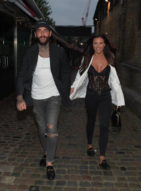 Pete Wicks with new girlfriend Shelby Tribble seen attending the UK Love Island 2018 launch screening at Fest Camden on June 4, 2018 in London, England. (Photo by Splash News and Pictures)