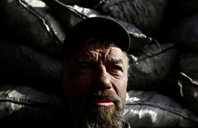 Charcoal burner Zbigniew poses for a photograph at a charcoal making site in the forest of Bieszczady Mountains, near the village of Baligrod, Poland October 28, 2016. (Photo by Kacper Pempel/Reuters)