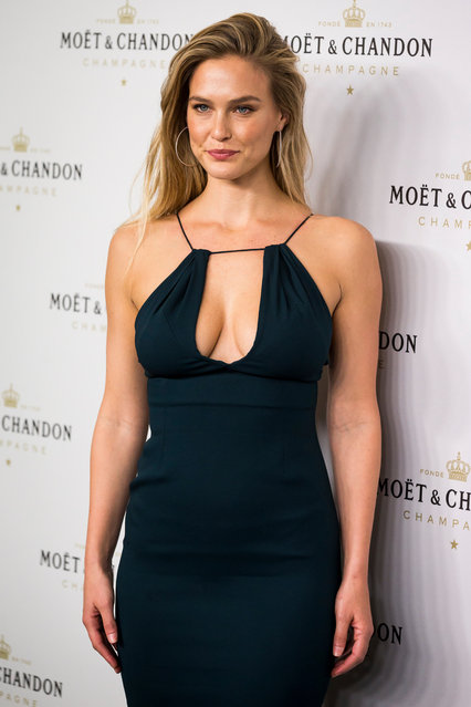 "Israeli model Bar Refaeli attends the ""Moet & Chandon"" New Year's Eve party at Florida Retiro on November 29, 2016 in Madrid, Spain. (Photo by Splash News and Pictures)"
