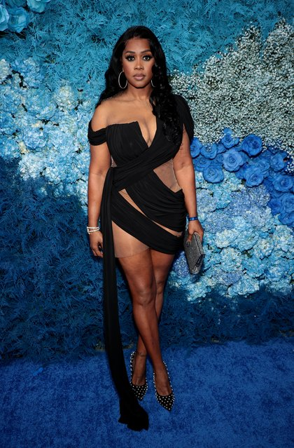 American rapper Remy Ma attends Jay-Z's 40/40 Club 18th Anniversary at 40 / 40 Club on August 28, 2021 in New York City. (Photo by Dimitrios Kambouris/Getty Images)