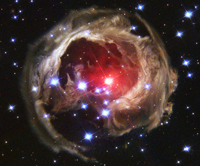 Star V838 Monocerotis's – V838 Mon – light echo, which is about six light years in diameter. (Photo by Reuters/NASA/ESA/H. E. Bond)