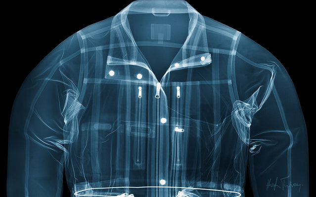 An x-ray of a jacket, taken by British artist and photographer Hugh Turvey in London, England. (Photo by Hugh Turvey/SPL/Barcroft Media)