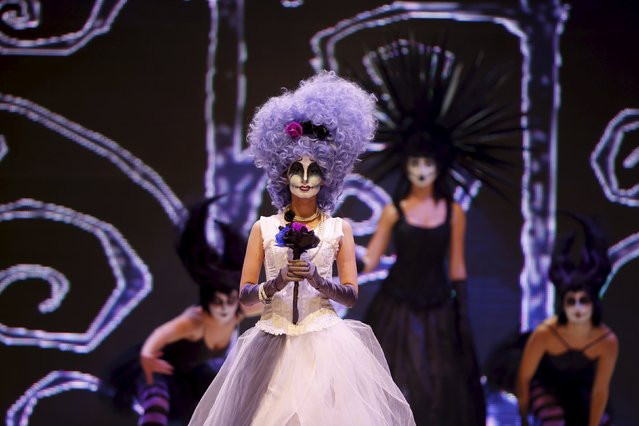 Models present creations by Maltese hairstylist Chris Galea of Michael & Guy at the Malta Fashion Awards 2015 at the Marsa Shipbuilding warehouse in Marsa, outside Valletta in Malta, May 16, 2015. (Photo by Darrin Zammit Lupi/Reuters)