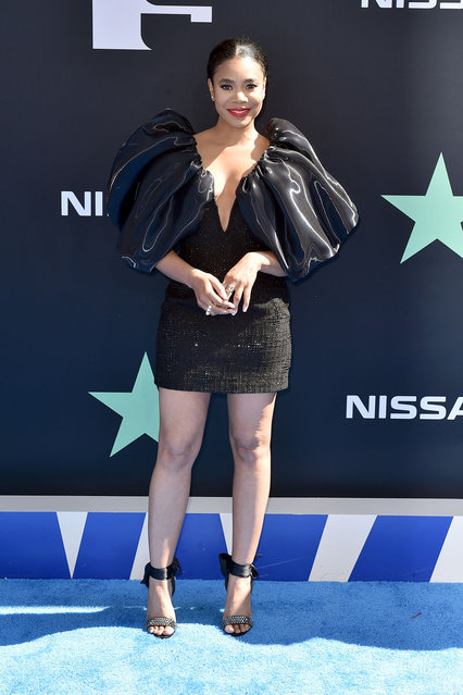 Host Regina Hall attends the 2019 BET Awards at Microsoft Theater on June 23, 2019 in Los Angeles, California. (Photo by Aaron J. Thornton/Getty Images for BET)