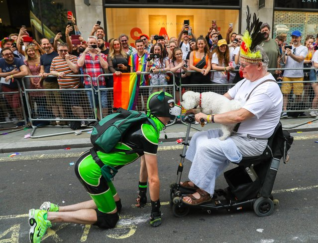 Parade goers during Pride in London 2019 on July 06, 2019 in London, England. (Photo by Tristan Fewings/Getty Images for Pride in London)