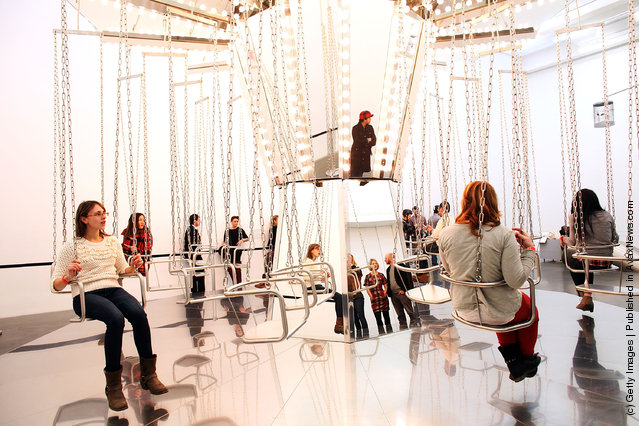 Carsten Holler Experience Exhibit Draws Large Crowds To New Museum
