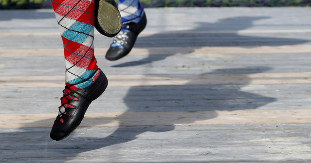 Competitors participate in the Highland Dancing at the annual Braemar Highland Gathering in Braemar, Scotland, Britain, September 7, 2019. (Photo by Russell Cheyne/Reuters)