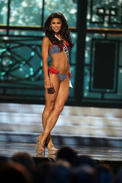 Miss South Carolina, Sarah Weishuhn, competes in the bathing suit competition during the preliminary round of the 2015 Miss USA Pageant in Baton Rouge, La., Wednesday, July 8, 2015. (Photo by Gerald Herbert/AP Photo)