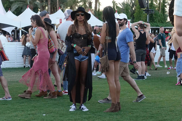 Model Jasmine Tookes is seen at Coachella on April 14, 2017 in Indio, CA. (Photo by Hollywood To You/Star Max/GC Images)