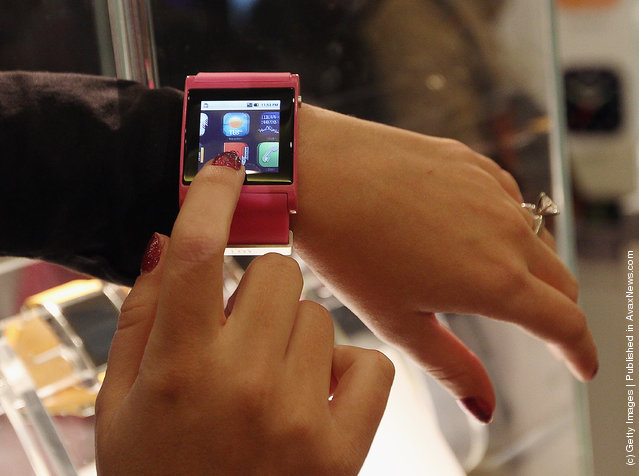 Bluetooth enabled watches that connect to your smartphone were on display from i'm watch of Italy at the 2012 International Consumer Electronics Show