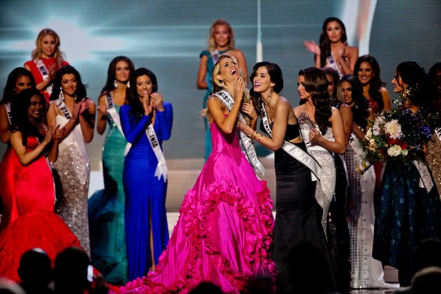 Miss Oklahoma Olivia Jordan is crowned Miss USA  during the 2015 Miss USA pageant in Baton Rouge, La., Sunday, July 12, 2015. (Photo by Derick E. Hingle/AP Photo)