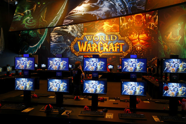 World of Warcraft gaming booths during the Gamescom 2015 fair in Cologne, Germany August 5, 2015. (Photo by Kai Pfaffenbach/Reuters)