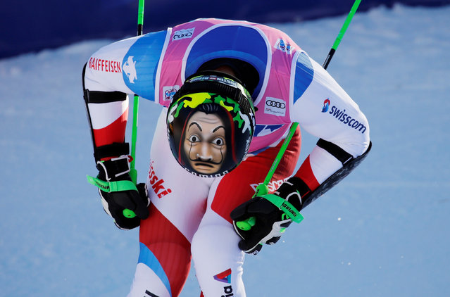 Switzerland's Justin Murisier competes in the second run of the Men's giant slalom race at the FIS Alpine Skiing World Cup in Adelboden, Switzerland on January 11, 2020. (Photo by Stefan Wermuth/Reuters)