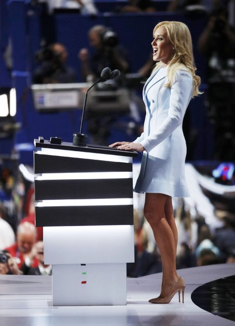Natalie Gulbis, a professor golfer on the LPGA tour, speaks at the Republican National Convention in Cleveland, Ohio, U.S. July 19, 2016. (Photo by Jim Young/Reuters)