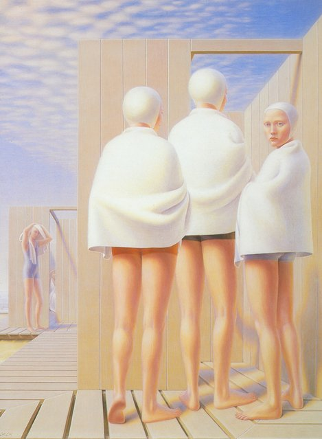 Bathers. Artwork by George Tooker