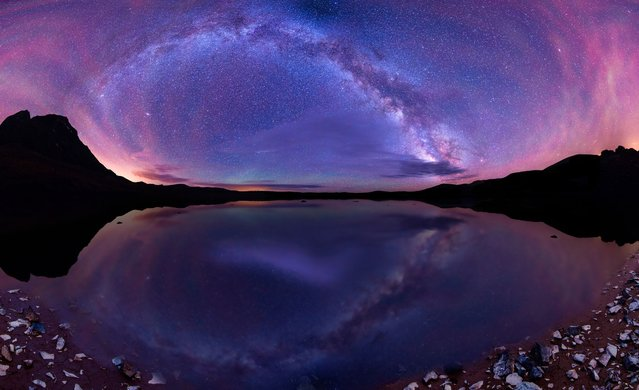 A photographer has captured these amazing rainbow-like images of stars high above the skies of Colorado. Stargazer Matt Payne, from Oregon, loves the evening skies so much, he has devoted hours to shooting the marvels of the Milky Way. The 35-year-old has to meticulously plan his work, taking into account weather, terrain, season and even the cycle of the moon to get the perfect snap. (Photo by Matt Payne/Caters News)