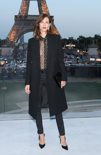 Aymeline Valade attends the Saint Laurent show as part of the Paris Fashion Week Womenswear  Spring/Summer 2018 on September 26, 2017 in Paris, France. (Photo by Pascal Le Segretain/Getty Images)