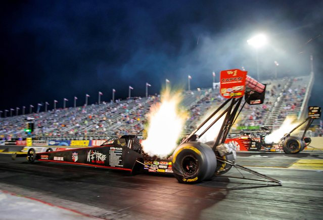 NHRA top fuel driver Steve Torrence during qualifying for the US Nationals at Lucas Oil Raceway in Clermont, Indiana on September 5, 2020. (Photo by Mark J. Rebilas/USA TODAY Sports)