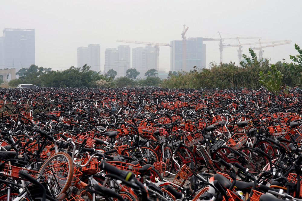 China's Bike-sharing Graveyards